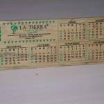 Calendario Pino Blanco-White Pine Calendar